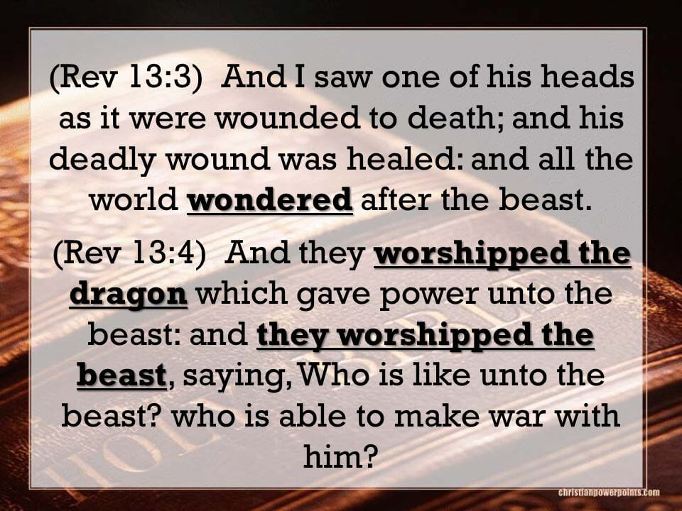 deadly wound was healed